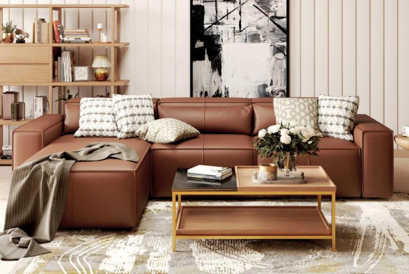 100% Genuine Leather Sofas for Modern Living Spaces